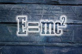 image of einstein  - Albert Einsteins Physical Formula Concept text on background - JPG