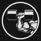 picture of muscle builder  - Vector illustration - JPG