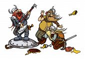 picture of viking  - Musician sings in front of the Vikings - JPG
