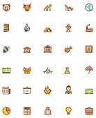 foto of glyphs  - Set of the stock market related icons - JPG