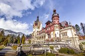 stock photo of winter palace  - Peles Castle Museum is a palace located in Sinaia - JPG