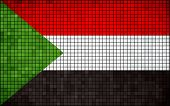 foto of sudan  - The National flag of Sudan, Sudanian grunge mosaic flag - JPG