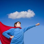 picture of superman  - superman costume child with the concept of positive attitude - JPG