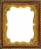 picture of keepsake  - Ornate gold metal picture frame from the 1850s - JPG