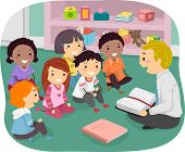 picture of stickman  - Illustration of Stickman Kids Attending Sunday School - JPG