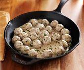 pic of meatball  - swedish meatballs in iron skillet - JPG