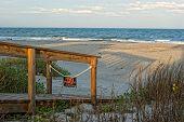 stock photo of atlantic ocean beach  - View of Atlantic ocean from the beach - JPG