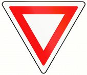 stock photo of traffic rules  - A common Canadian traffic sign  - JPG