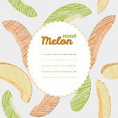 picture of melon  - Endless fruit texture - JPG