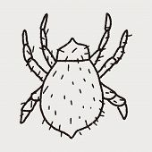 stock photo of mites  - Mite Doodle - JPG