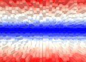 stock photo of color geometric shape  - Square shape color flag of Thailand - JPG