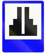stock photo of hindu  - An Indonesian informational road sign  - JPG