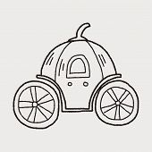 pic of cinderella coach  - Pumpkin Carriage Doodle - JPG