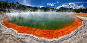 picture of champagne color  - Thermal lake Champagne Pool at Wai - JPG
