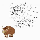 foto of yaks  - Game for children - JPG