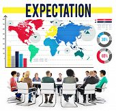 pic of expectations  - Expectation Hope Expecting Prediction Assumption Concept - JPG