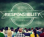 foto of responsibility  - Responsibility Reliability Trust Liability Trustworthy Concept - JPG