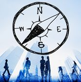 picture of longitude  - Compass Longitude Latitude Navigation Direction Adventure Concept - JPG