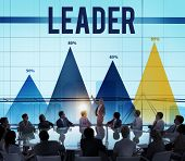 picture of leader  - Leader Leadership Authority Chief Coach Concept - JPG