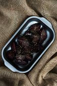 image of pot roast  - Roasted halves of beets with herbs - JPG