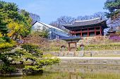 stock photo of seoul south korea  - Royal library inside the secret garden of Changdeokgung Palace in Seoul - JPG