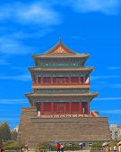 image of zedong  - temple at the edge of tiananmen square in beijing china - JPG