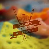 image of tailoring  - illustration of vintage style label for tailor label and emblem - JPG