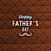 image of wood design  - Happy Father - JPG