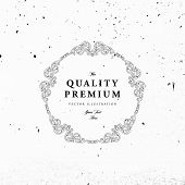 image of flourish  - Vintage Frame for Luxury Logos - JPG