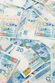 image of twenty dollar bill  - Twenty dollar Hong Kong dollar background - JPG