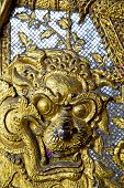 pic of demon  - demon in the temple bangkok asia thailand abstract cross colors step gold wat palaces - JPG