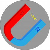 foto of south-pole  - Magnet flat icon - JPG
