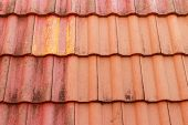 pic of red roof  - close up red roof tiles - JPG
