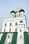 image of trinity  - Famous Trinity cathedral in the Pskov city Russia - JPG
