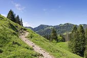 foto of bavaria  - Ascent to Mount Jaegerkamp in the Alps in Bavaria in Germany - JPG