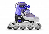 picture of inline skating  - Roller skate side view isolated on white background - JPG