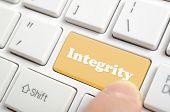 pic of integrity  - Pressing brown integrity key on keyboard - JPG
