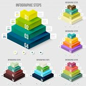 pic of pyramid  - Modern infographics element number template - JPG