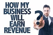 image of revenue  - Business man pointing the text - JPG