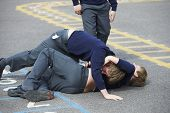 pic of 11 year old  - Two Boys Fighting In School Playground - JPG