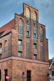 stock photo of tenement  - Gothic tenement house in Torun - JPG