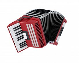 picture of accordion  - Bayan isolated on white background - JPG