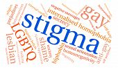 Stigma Word Cloud poster