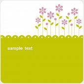 image of greeting card design  - vector floral card design - JPG