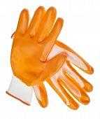 Постер, плакат: Оранжевый упорные воды сад перчатки