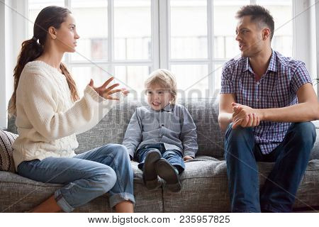 Frustrated Little Boy Son Scared