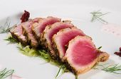 Tuna Gourmet Dish Of An Exclusive Restaurant poster