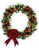 3D Decorated Christmas Wreath