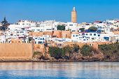 River Bou Regreg Seafront And Kasbah In Medina Of Rabat, Morocco. Rabat Is The Capital Of Morocco. R poster