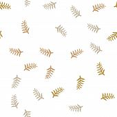 Pattern Tree Branches On White Background. Twig Tree Seamless Pattern. Bare Branches On White Patter poster
